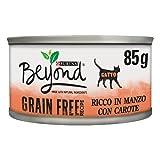 PURINA BEYOND Umido Gatto Grain Free ricco in Manzo con carote - 12 lattine da 85g ciascuna (confezione da 12x85g)