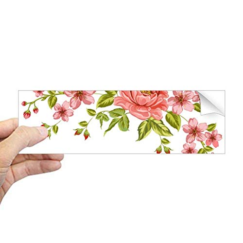 DIYthinker Rode Rozen Patroon Bloemen Planten Rechthoek Bumper Sticker Notebook Window Decal