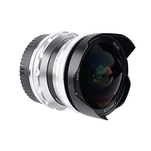 PERGEAR 7.5mm F2.8 カメラ交換レンズ APS-C広角魚眼レンズ 手動式 1年保証 (M4 3マウント)