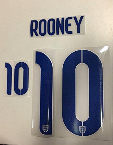 Flock Original England Trikot 25cm - Rooney 10