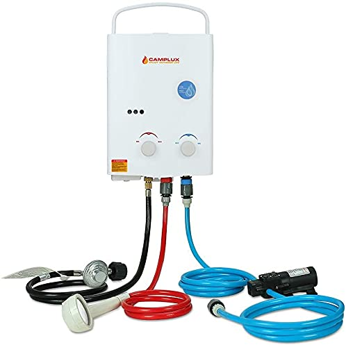 Product Image of the Camplux 5L Portable Water Heater Propane,1.32 GPM Tankless Gas Water Heater With 1.2 GPM Water Pump