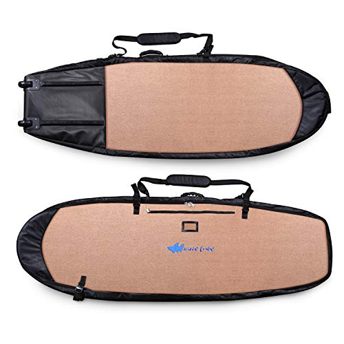 Wave Tribe Surfboard Travel Bags. Made from Hemp by California Eco Surfers (Grizzly Bear Brown, 6'2 Shortboard)