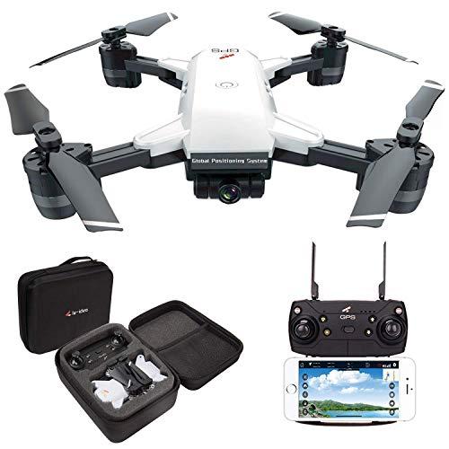 le-idea 10 GPS Drone FPV 1080P con videocamera HD grandangolare Video in Diretta, Quadricottero Altitude Hold, Facile per Principianti, Borsa per Il Trasporto(Versione aggiornata, 7.4V 1200mAh)