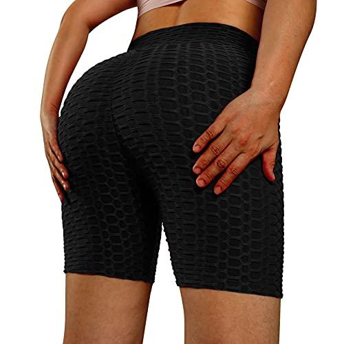 Leggings de yoga de cintura alta para mujer, sin costuras, con textura elástica