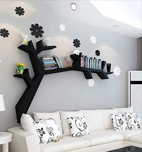 YLCJ Estantería en Forma de árbol Estante de Pared Colgante de Pared de Sala de Estar estantería Soporte de exhibición de celosía Minimalista Moderna 120x90 cm (Color: B)