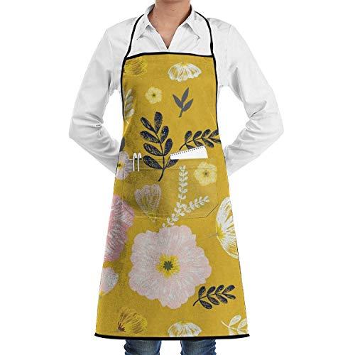 Darlene Ackerman(n) Kochschürzen Monarch Senf Gelb Restaurant Schürzen Chefkoch Lätzchen Schürze für Küche Kellnerin Männer Frauen BBQ Malerei Stylist Künstler.