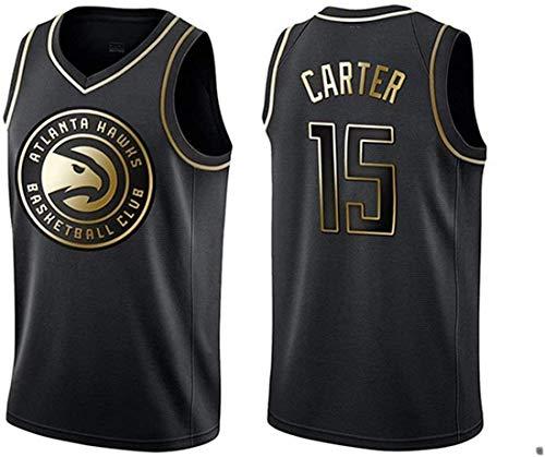ATI-HSKJ Vince Carter 15# Trikots, NBA Atlanta Hawks Männer Basketball Kleidung Cool Atmungsaktiv Swingman Weste Top Kleidung,M