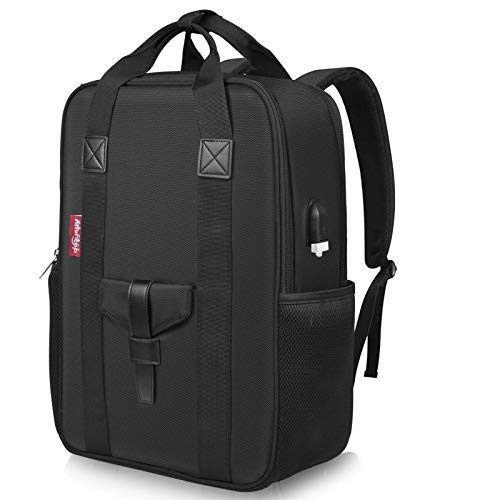 HS-LAMP Laptop Backpack Men 15.6 Inch Office Work Backpack Business Bag Unisex Business Backpack Black Back Pack (Color : Black)