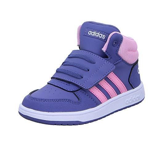 adidas Unisex-Kinder Hoops Mid 2.0 I Fitnessschuhe, Mehrfarbig (Indnat/Rosaut/Ftwbla 000), 27 EU