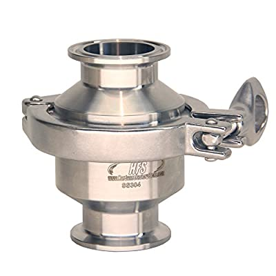 HFS (R) Sanitary Check Valve - One Way Flow - Tri Clamp Clover Stainless Steel (1.5IN) by HFS
