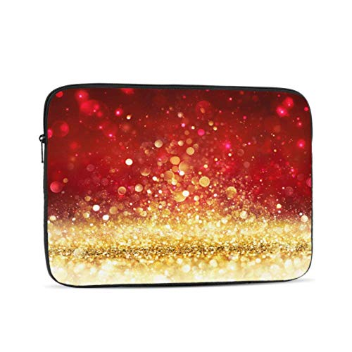 MacBook Pro Laptop Christmas Golden Pseudo Glitter Effect On Shiny MacBook Pro Cover Multi-Color & Size Choices 10/12/13/15/17 Inch Computer Tablet Briefcase Carrying Bag