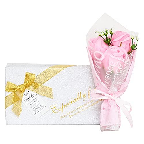 母の日のプレゼント 人気 花 カーネーション ピンク 枯れない花 石鹸花 プレゼント 花束 母へのプレゼント ギフト 誕生日 (カーネーション ピンク)