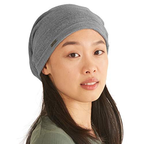 CHARM Casualbox | Herren Damen Sommer Beanie Slouchd Strick Hut Leicht Gewicht Atmungsaktiv Slouch Baggy Stil Einfach Farbe Grau