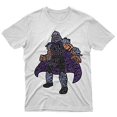 fm10 – Camiseta de fútbol Clan Leader Tortugas Ninja TV Shredde Gift Cartoon Bianco X-Large