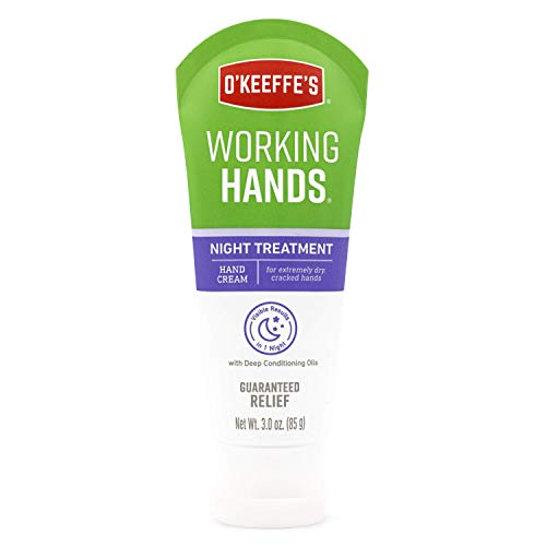 O'Keeffe's Night Treatment Hand Cream, 3 Ounce Tube, White