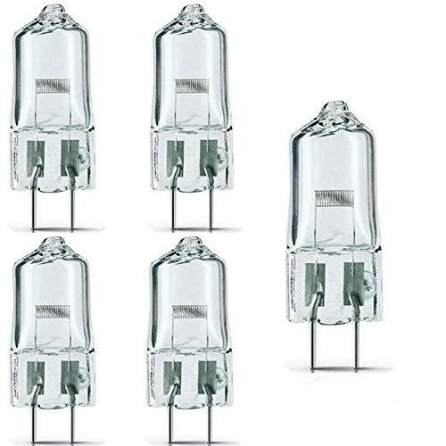 Paquete de 5) - FCS 150W/T4/24V/CL/G6.35 150-watt 24-Volt Bi-Pin Basado Etapa y Estudio T4 Bombilla Halógena, Transparente/para Proyector Escenario y Proyección de Película