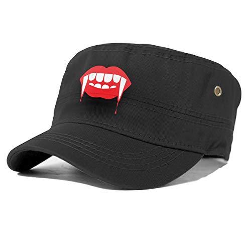Generic Zombie Zähne und Lippen einstellbar Erwachsenen Snapback Hut Baseball Cap schwarz