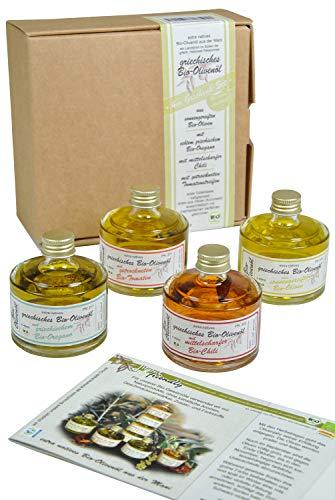 direct&friendly Geschenkset Bio Olivenöle mit Chili, Tomate, Oregano