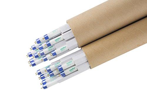LightWise LWF54T5HO865 20case 4 FT 6500K T5 HO Fluorescent Grow Light Bulbs (20, 6500k - Blue - Veg)