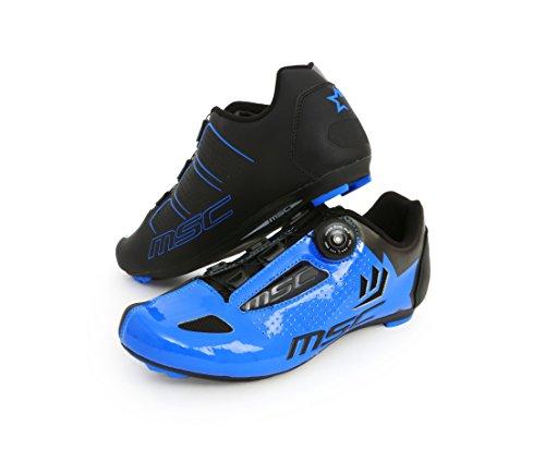 MSC Bikes Aero Road Zapatillas, Unisex Adulto - Azul - EU 44