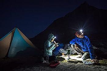 Lampe Frontale Puissante LED - Lot de 2 Pieces, Ultra Compact, Idéale pour Camping, Sport, Bricolage, lecture, 3 piles AAA (non fournies)