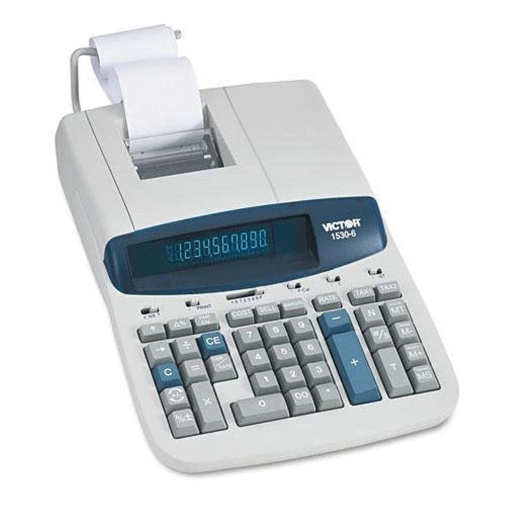 トークリングレット目指すVictor 15306?1530?–?6?2色リボン印刷電卓、ブラック/レッドプリント、5線/ sec