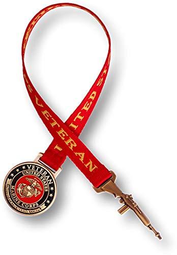U.S. Marine Corps Veteran Bookmark with 10 Inch Ribbon