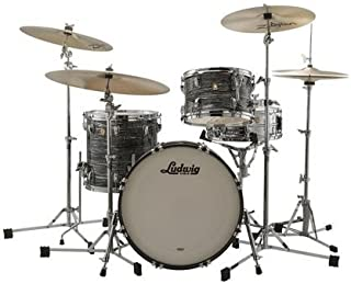 Ludwig Classic Maple Downbeat 20 Drum Shell Pack - Vintage Black Oyster