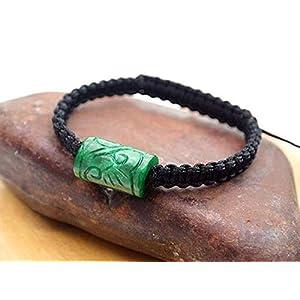 Men Adjustable Braided Jade Bracelet, Unisex