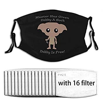 Dobby is Free Face Mask Bandana Scarf with 16 Filters Earloop Nose Wire Reusable Washable Unisex Men Women
