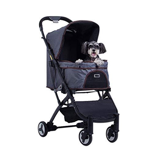 QinWenYan Carro para Mascotas Cochecito del Perro casero de la Compra Plegable del Gato del Perro Lavable Universal for Llevar Bolsa de Viaje for Mascotas Suministros Cesta para Mascotas