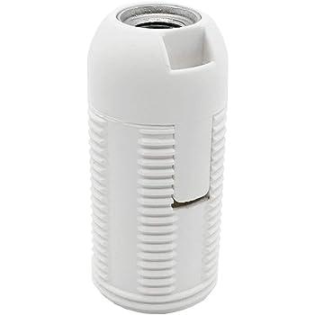 revestimiento roscado y tapa de bloqueo 2 piezas termopl/ástico transparente rosca M10 x 1 Casquillo E14 para bombilla y LED