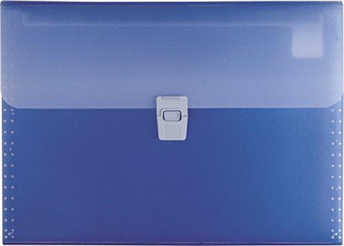 Brunnen 102024030 Fächermappe FACT! (aus transluzenter PP-Folie, A4, 10-teilig) blau