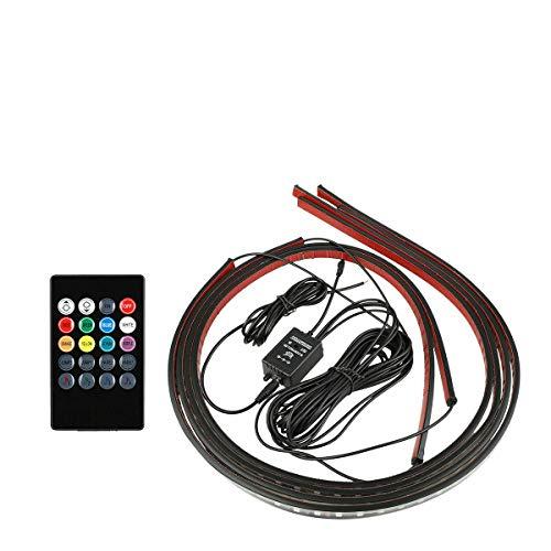SXROMDA Auto-LED-Lichtstreifen, 8 Farbiges LED-Streifen Unter Auto-LKW-Röhre Underglow Unterbody System Neon Light Kit