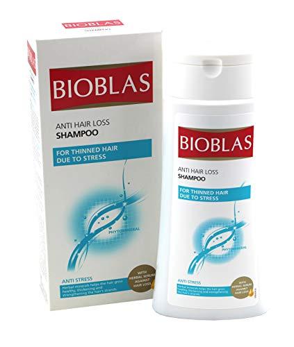 Bioblas Shampoo, dermatologisch getestet, Anti Haarausfall Shampoo für Mann und Frau, 400 ml (Anti-Stress)