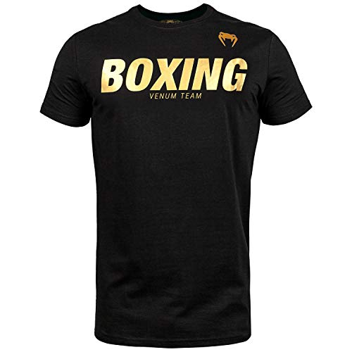 Venum Herren Boxing VT T-Shirts, Schwarz/Gold, M