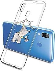 Oihxse Compatible con Samsung Galaxy A6 Plus 2018/A9 Star Lite Silicona Funda Transparente Gel TPU Flexible Protectora Carcasa Dibujos Elefante Patrón Ultra Thin Estuche Cover Case(A8)