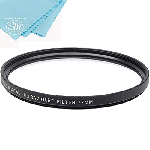 77mm Multi-Coated UV Protective Filter for Canon EOS R, EOS 6D, EOS 6D Mark II, EOS 5D Mark IV Camera with EF 24-105mm USM Lens