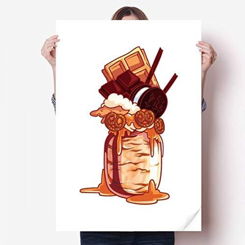 DIYthinker Koekjes Chocolade Fles IJs Vinyl Muursticker Poster Mural Wallpaper Room Decal 80X55Cm