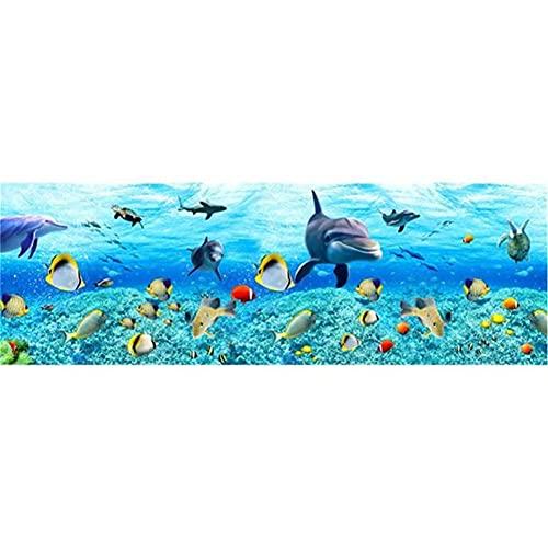 Kit de Pintura de Diamante 5D DIY Pescado de mar talla grande Diamond Painting Rhinestone Bordad Punto de Cruz Arte Imagen Artesanía Para Decoración de la Pared Del Hogar Regalo 80x220cm/32x88in