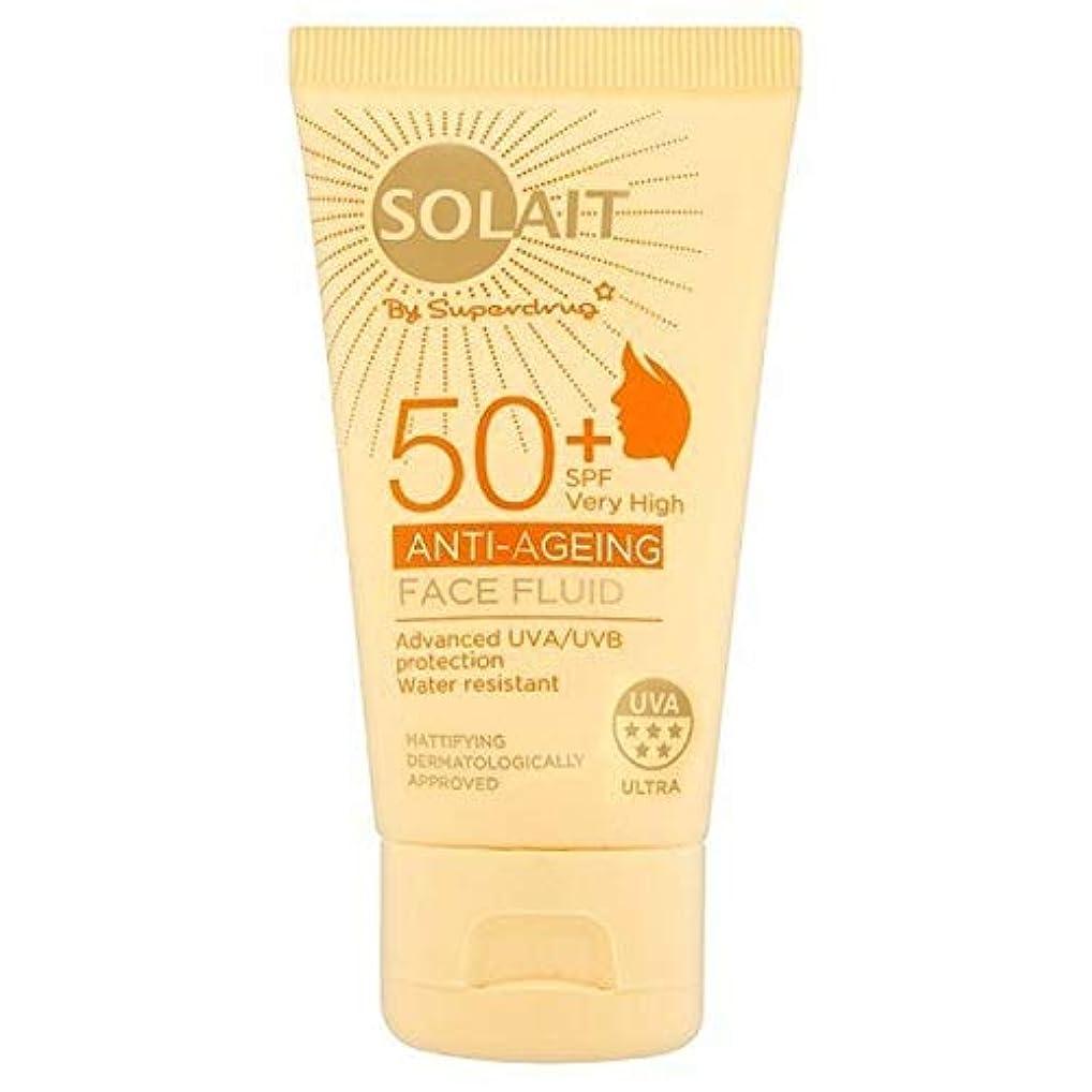 致死換気する曲線[Solait] Solait顔日クリームSpf50液の50ミリリットル - Solait Face Sun Cream Fluid SPF50 50ml [並行輸入品]