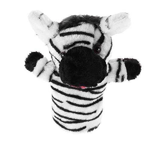 VOSAREA Plüsch Kuh Welpe Zebra Handpuppe Weiches Tier Handspielpuppe Tierhandpuppen Kuscheltier Stofftier Plüschtier Handschuh für Baby Kinder