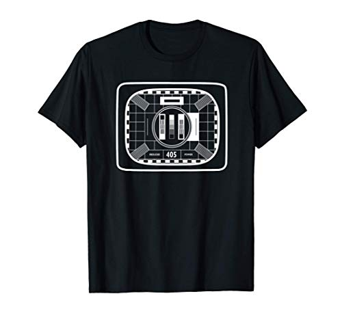 * NEW * Vintage TV Black and White Test Card T-shirt for Adults and Kids