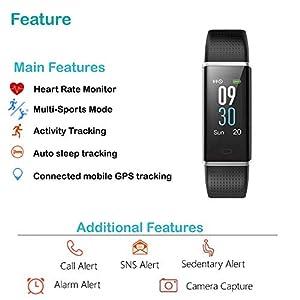 Willful Pulsera Actividad Impermeable IP68 con 14 Modos de Deporte,Pulsera Inteligente con Pulsómetro, Monitor de Calorías, Sueño,Podómetro,Pulsera Deporte para Android y iOS Teléfono móvil (Negro)