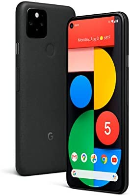 Google Pixel 5 – 5G Android Phone – Water Resistant – Unlocked Smartphone with Night Sight and Ultrawide Lens – Just Black