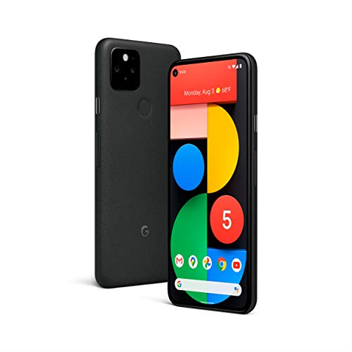 INSAEIGY Google Pixel 5-5G Android Phone - Water Resistant - Unlocked Smartphone with Night Sight and Ultrawide Lens - Just Black