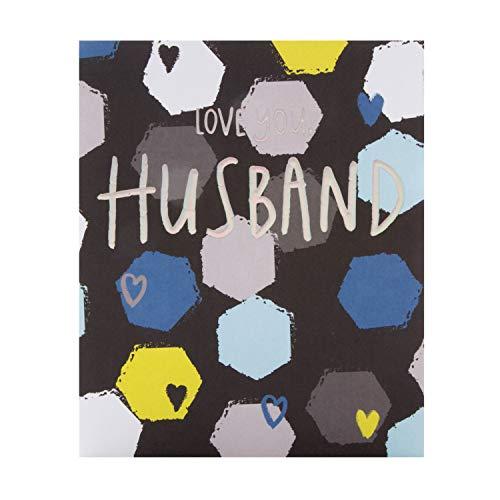 Verjaardagskaart voor echtgenoot van de Hallmark Studio - Hedendaags Gedessineerd Ontwerp