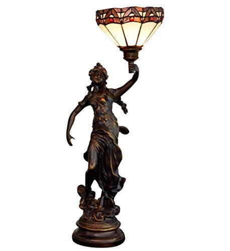 NANXCYR Lámpara de Mesa de vidrieras Estilo Tiffany con lámpara de Escritorio de Pantalla de 8 Pulgadas de Ancho para Sala de Estar de Noche, 30 Pulgadas de Altura