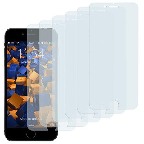 mumbi Schutzfolie kompatibel mit iPhone 6 Folie, iPhone 6s Folie klar, Displayschutzfolie (6X)