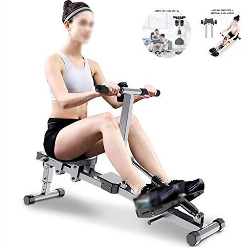 JXH Faltbare Rudergerät, verstellbares Rudergerät, Innengewichtsverlust und Muskelaufbau Bauchmuskeltraining Fitnessgeräte